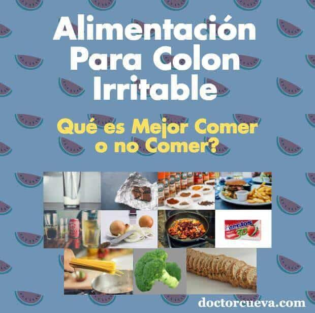 Dieta para colon irritable menu