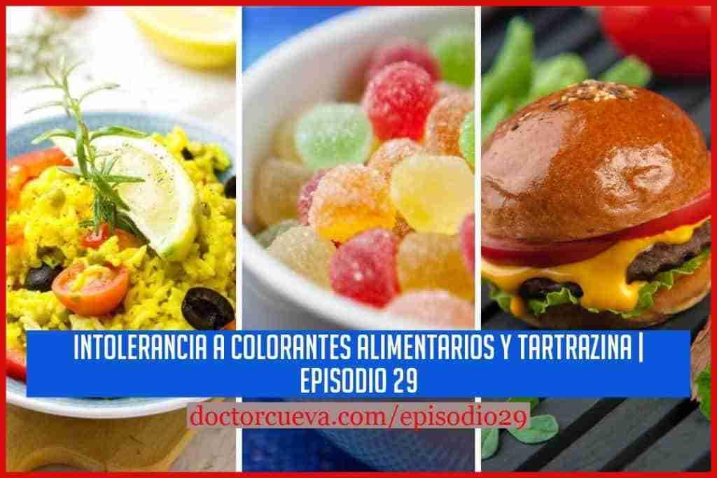 intolerancia a colorantes alimentarios
